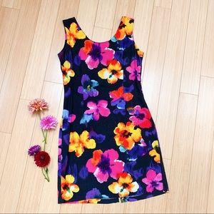Vintage JAMS WORLD tropical hibiscus dress, S.